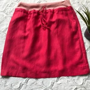 Daughters of the Liberation coral linen skirt